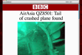 Tail of crashed AirAsia plane located