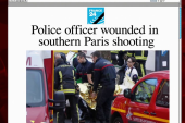 Officer shot, wounded in Paris suburb