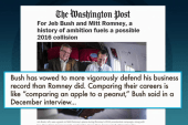Romney, Bush begin battle for 2016
