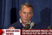 Boehner praises FBI for foiled Capitol plot