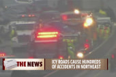 Freezing rain catches drivers off-guard