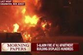 Five-alarm complex fire displaces hundreds