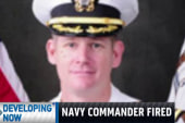Navy commander fired