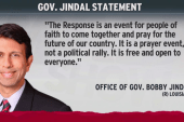 Jindal responds to request for comment