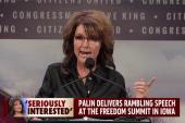 Sarah Palin delivers rambling speech in Iowa