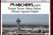 Online threats against flights more frequent