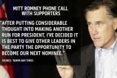 Mitt Romney shakes up the race
