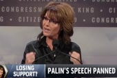 Sarah Palin's support from the right flails