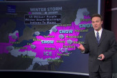 Winter storm warnings from Indiana to Maine