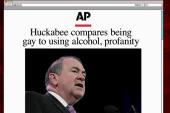 Joe: People won't vote on Huckabee's gay...