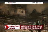 Busy commuter train strikes vehicle in NY