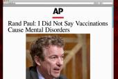 Rand Paul backtracks on vaccines