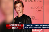 Conrad Hilton's mid-flight meltdown