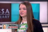 14-year-old model takes on human trafficking