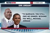 Michael Jordan vs. President Obama
