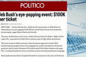 Jeb Bush's $100k-a-plate fundraiser