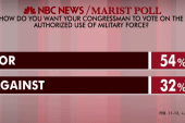 Majority supports military force: poll