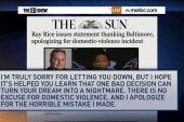 Ray Rice apologizes to Ravens fans
