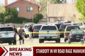 Standoff underway in Nevada road rage manhunt