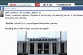 NC Senator rules legislative roost for a day