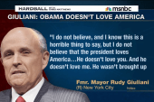 Is Giuliani questioning Obama's patriotism?