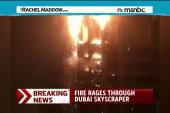 Fire rips through residential skyscraper