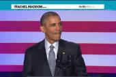 Obama rallies Democrats in rousing speech