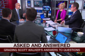 Why can't Walker answer softball question?