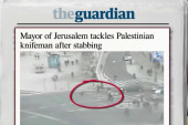 Mayor of Jerusalem tackles knife-wielding man