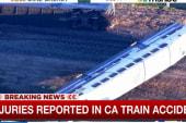Injuries after California train derailment