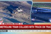 Violent collision results in train derailment