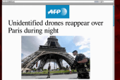 Mystery drones fly over Paris