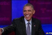 Obama teases Jose Diaz-Balart about his hair