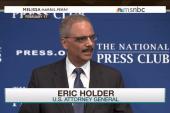 Holder's big investigations before departing