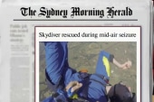 Skydiver has seizure while in the air