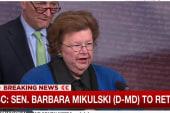 Dem leader Sen. Barbara Mikulski to retire