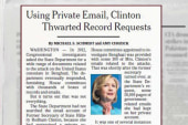 Hillary avoids 'scrutiny and transparency'?
