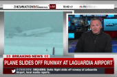 Airplane flies off runway at New York airport
