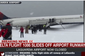 Video shows plane after sliding on runway