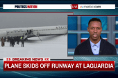 LaGuardia closes after plane skids off runway