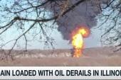 Train with crude oil derails in Illinois