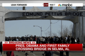 Obama, First Family cross Selma bridge