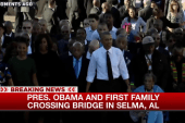 50 years later, President Obama crosses...