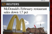 McDonald's reports weak sales in February