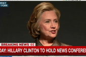 Hillary Clinton to hold news conference