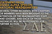Fraternity chapter closed after racist video