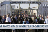 Was Bush cropped out of historic Selma photo?