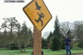 An angry owl warning sign for your very own