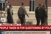 Three taken in for questioning in Ferguson