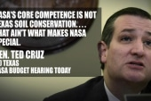 Ted Cruz questions NASA's 'earth science'